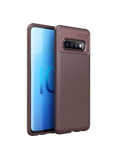 Microsonic Samsung Galaxy S10 Plus Kılıf Legion Series Kahverengi Kahve